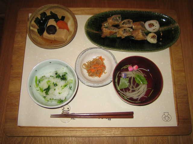 活動報告 七草がゆランチ 1月7日限定イベント 『日本の行事七草がゆを食べよう!』 通常の『一汁